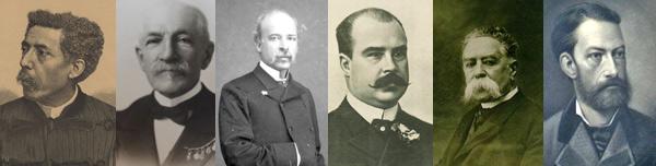 Alguns dos expedicionários - Gentil Martins, Jules Daveau, Hermenegildo Capelo, Emídio Navarro, Júlio Henriques e Martins Sarmento