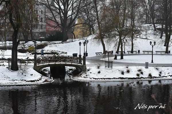 Jardim do canal Pilsetas